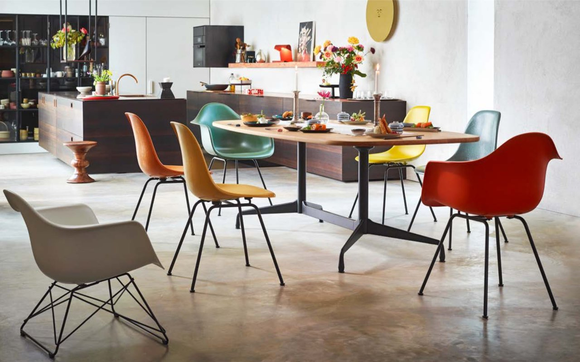 vitra Eames Shell Chairs, Design Charles & Ray Eames