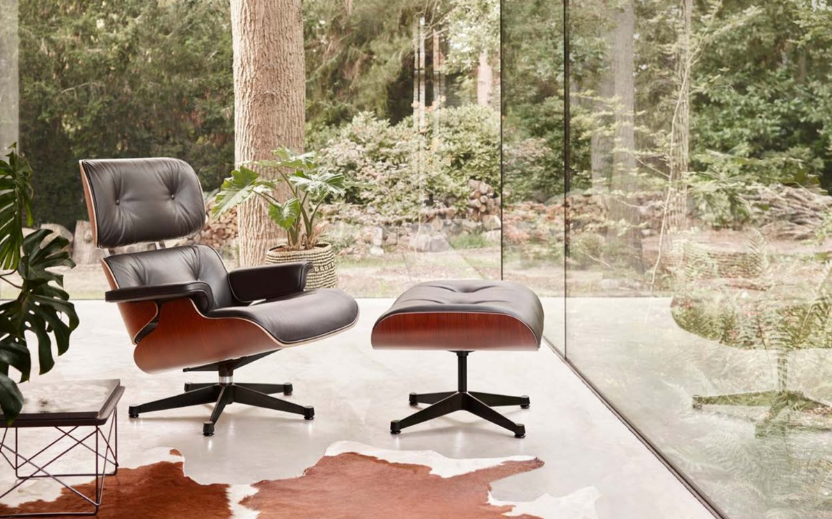 vitra Lounge Chair & Ottoman, Design Charles & Ray Eames